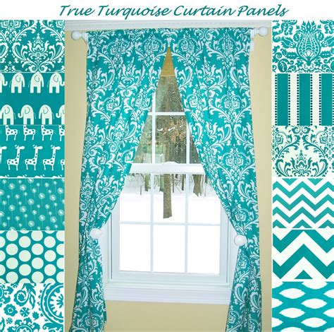 Aqua Color Curtains Designs Turquoise Curtainsaqua Curtainsdamask Curtains