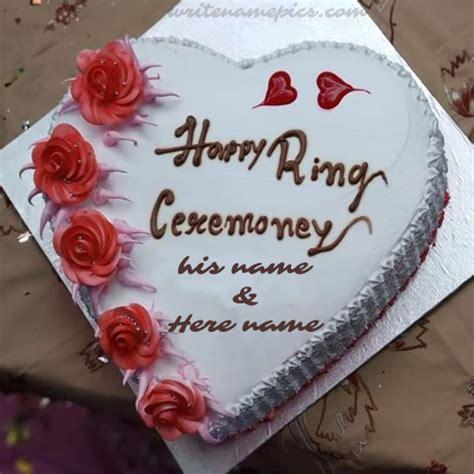 write couple   happy ring ceremony cake