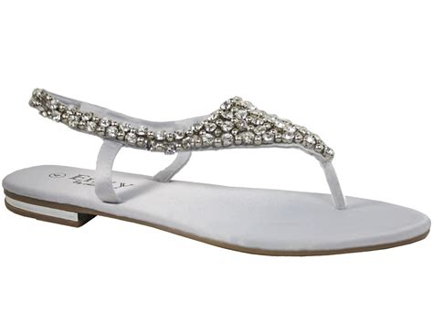 pearl sandals flat womens flat sandals diamante pearl sling back