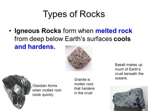 Which Earth Layer Is Made Out Of Basalt And Granite - minerals and rocks a mr vaughn production ppt