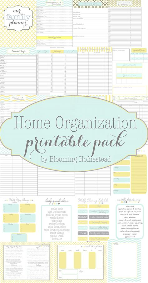 home organization printables page 3 of 4 blooming