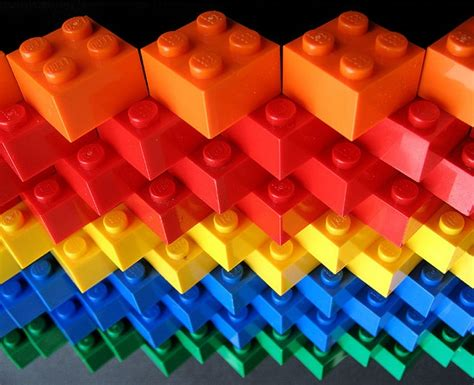 colorful photography rainbow legos lots of color
