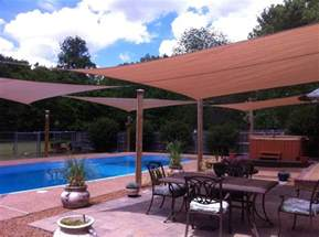 outdoor sun shade sails are up for 2012