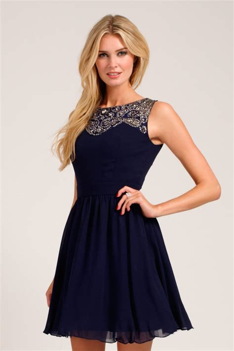 Dress Navy navy embellished lace detail sweetheart neckline prom dress