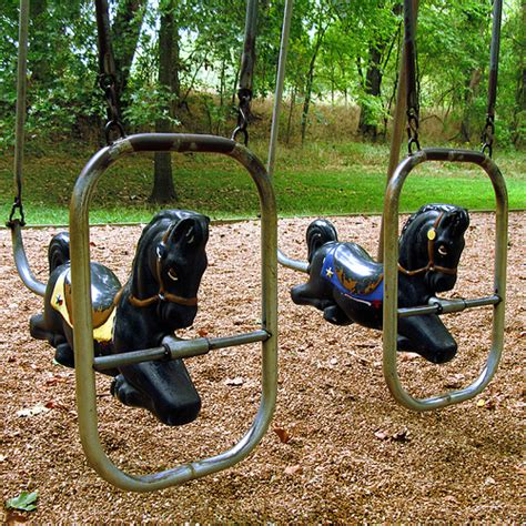 horse for swing set old playground furniture a gallery on flickr
