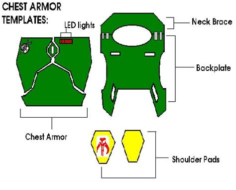 boba fett armor template the boba fett fan club manual mandalorian blueprints