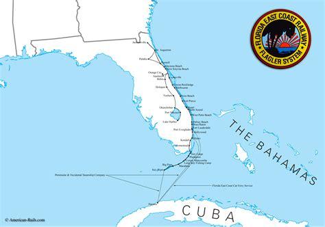 map of florida east coast the florida east coast railway