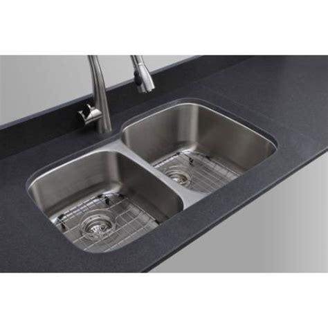 wells sinkware 18 gauge 40 60 double bowl undermount
