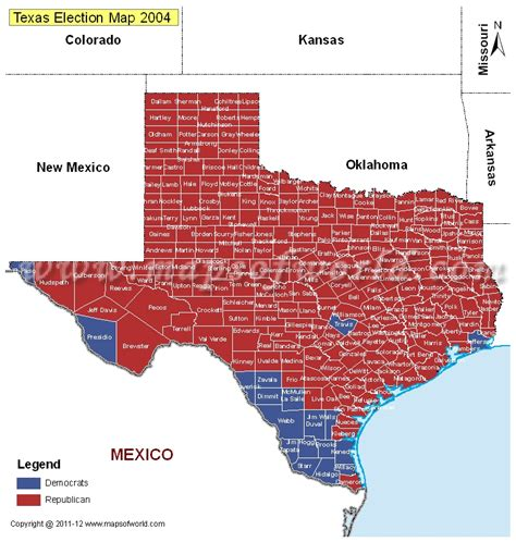 texas voting map texas election results
