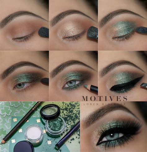 stpatricks day green makeup ideas