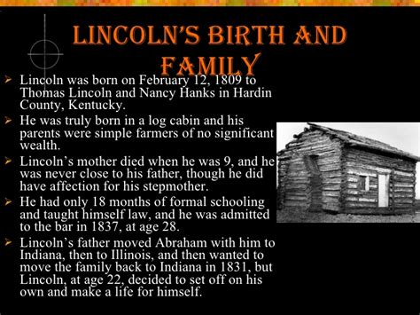 the life of abraham lincoln from his birth to his inauguration as president the early life of abraham lincoln
