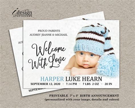 Diy Baby Announcement Printable