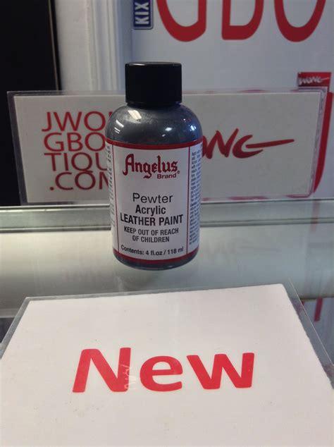 angelus paint vs angelus pewter acrylic leather paint 4 fl oz jwong boutique