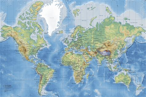 world map world map detailed wall mural photo wallpaper photowall