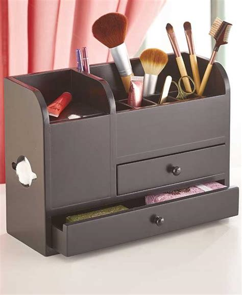 Vanity Organizers by New Wood Vanity Cosmetic Makeup Storage Organizer