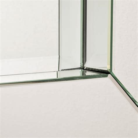 large all glass framed wall mirror by decorative