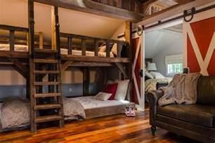 Barn Door Bunk Bed Rustic Room With Bunk Beds And Barn Door Fresh Space And Hgtv