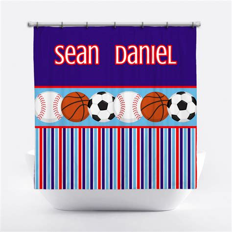 boy shower curtains sports shower curtain boys personalized shower curtain