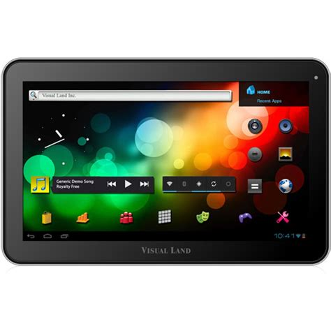 walmart tablets android visual land 10 quot tablet with 16gb memory walmart