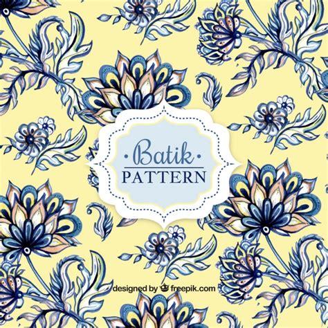 batik pattern design vector watercolor pattern in batik style vector free download