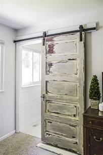 How To Install A Sliding Barn Door Master Bathroom Barn Door Shades Of Blue Interiors