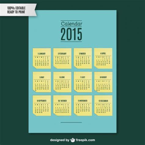 Calendario De Notas 2015 Modelo De Nota De Calend 225 Baixar Vetores Gr 225 Tis