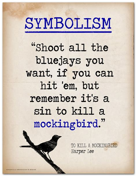 to kill a mockingbird key themes and quotes to kill a mockingbird symbolism quote educational art print