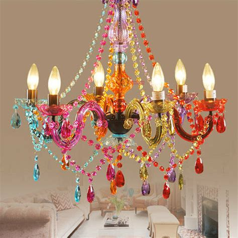 colorful chandeliers modern colorful acrylic chandelier pendant light ceiling