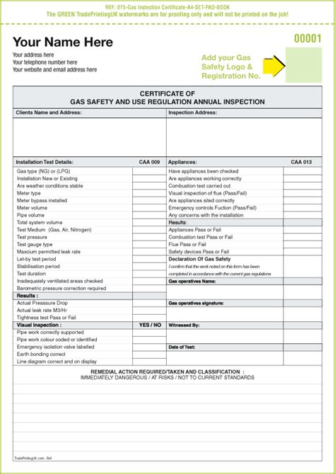 certificate of inspection template 4 best and various