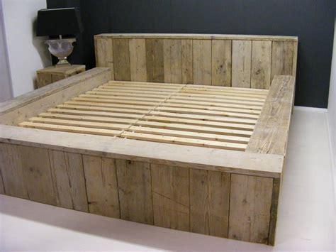 steigerhout bed maken tekening 17 beste idee 235 n over houten pallet bedden op pinterest