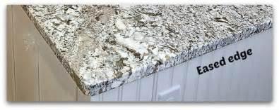 How To Cut Corian Countertops Countertop Edges For Granite Silestone And Corian