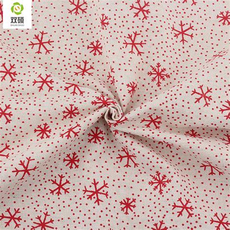 pattern linen fabric print christmas pattern cotton linen fabric diy christmas