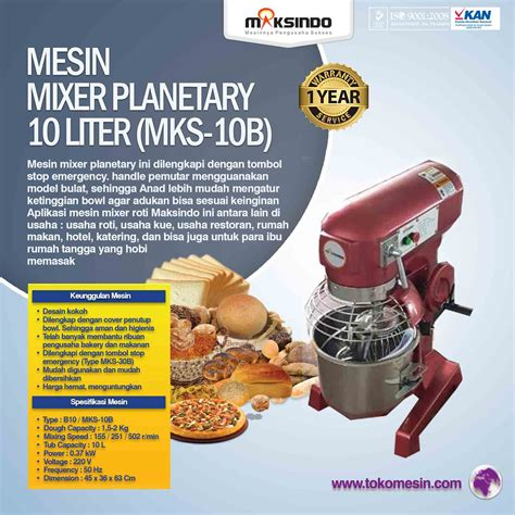 Mixer Audio Di Surabaya jual mesin mixer planetary 10 liter mks 10b di surabaya
