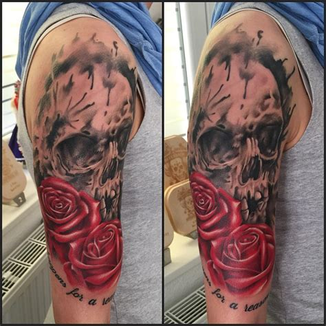 skull and roses tattoo best tattoo ideas gallery