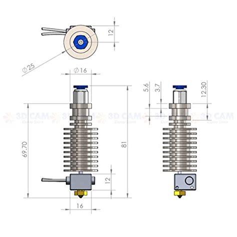 3d metal j v5 end for reprap 3d printer 1 75mm filament bowden extruder 0 4mm