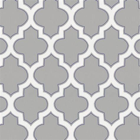 silver gray  navy hand drawn quatrefoil fabric   yard navy fabric carousel designs