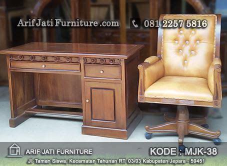 Meja Dan Kursi Untuk Kantor meja dan kursi kantor jati harga murah arif jati furniture