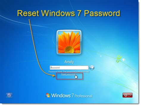 reset windows 7 password without disk january 2012 windows password recovery