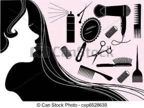 eps vector haar stijl element vector salon