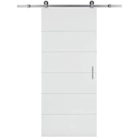 interior barn door hardware home depot masonite 30 in x 84 in melrose solid core primed