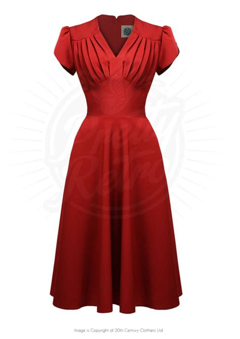 red swing dress vintage retro 50s style swing dress in red