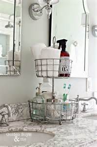 Declutter bathroom under sink cabinet and kitchen organization tips