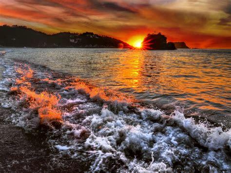 beach sunrise landscapes nature ocean water hd