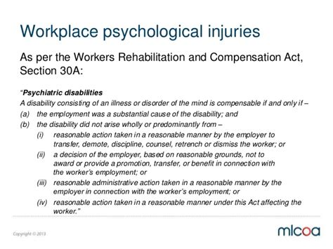section 60 workers compensation act finaljdh understanding psychological injuries 1