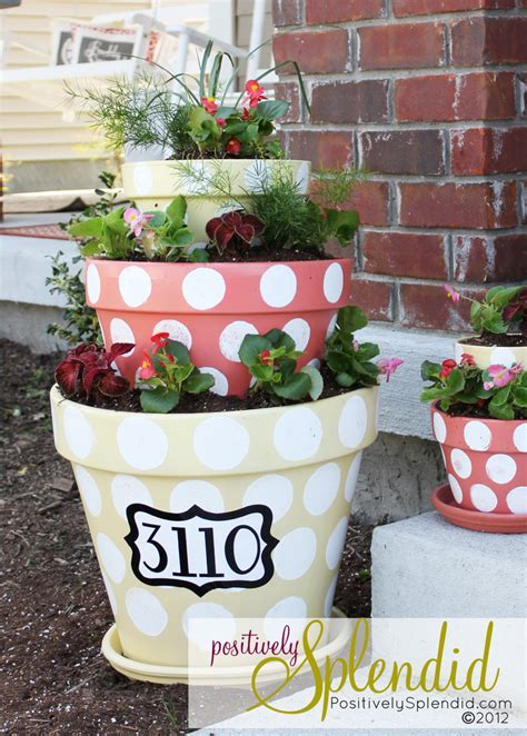 polka dotted tiered planters positively splendid crafts