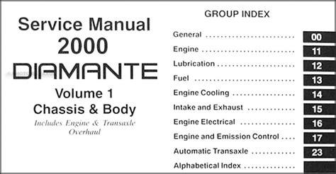 service manual vehicle repair manual 2000 mitsubishi diamante on board diagnostic system