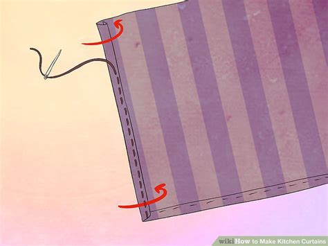 how to make kitchen curtains how to make kitchen curtains 12 steps with pictures