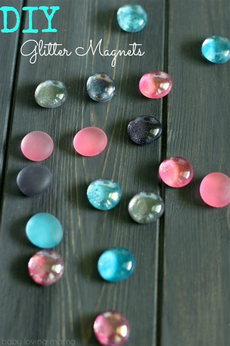 diy magnets crafts diy glitter magnets easy craft tutorial finding zest