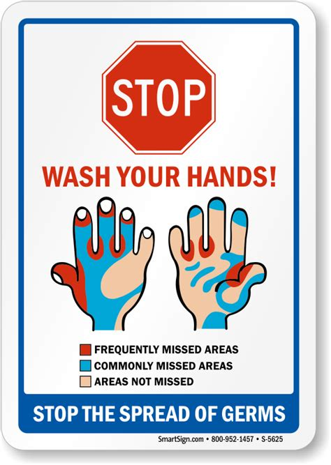 bathroom signs wash your hands stop the spread of germs wash hands sign sku s 5625