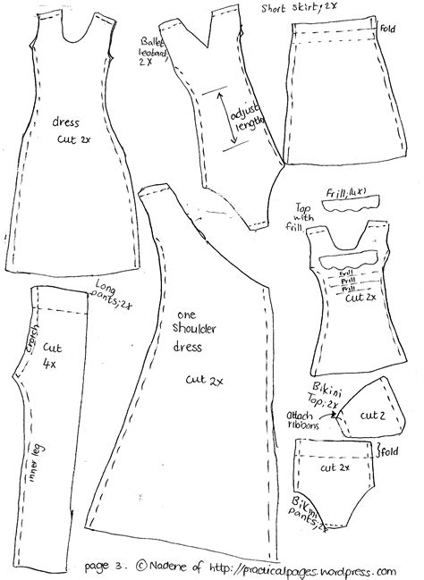 clothes pattern download free free barbie doll clothes patterns new calendar template site